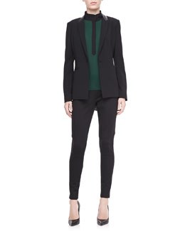 T Tahari Nayarit One-Button Jacket, Dara High-Neck Blouse & Giada Tapered Leg Pants