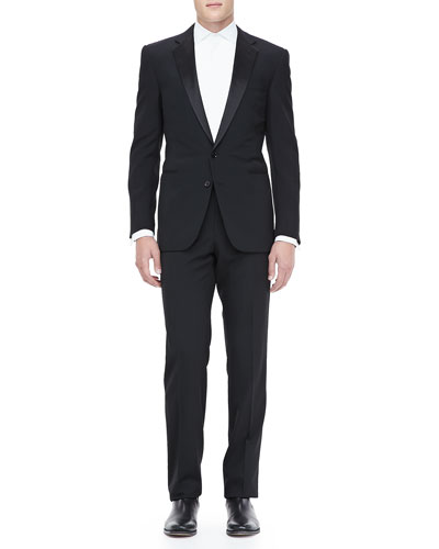 Ralph Lauren Black Label Peak-Lapel Tuxedo & Tuxedo Shirt