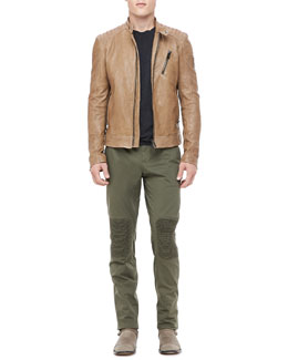 Belstaff Kirkham Leather Biker Jacket & Hartford Biker Pants