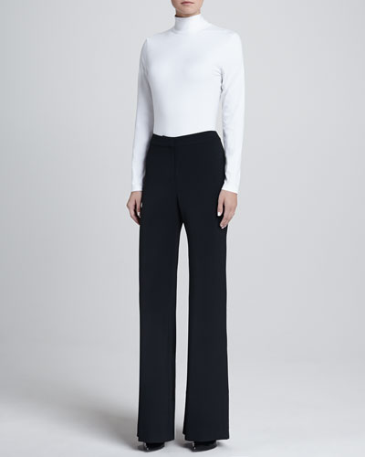 St. John Collection Turtleneck Shell & Diana Wide-Leg Pants