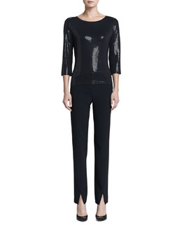 St. John Collection Sequined Top & Jennifer Pants