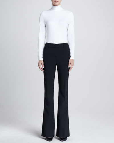 St. John Collection Turtleneck Shell & Annabel Narrow Boot-Cut Pants