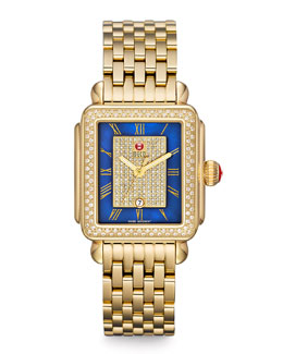 MICHELE Deco Diamond Watch Head & Bracelet