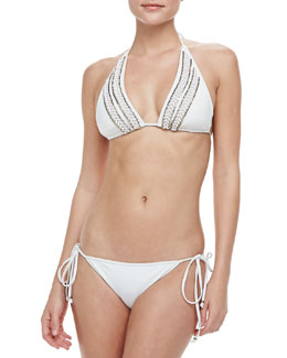 Milly Fiji Beaded Bikini Top & Bottom