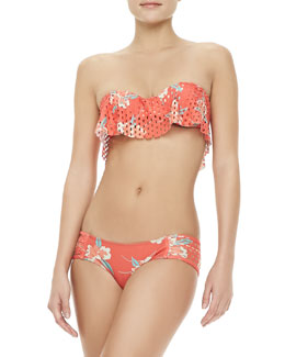 Beach Riot GTS Floral-Print Cutout Swim Top & Monte Carlo Laser-Cut Bottom