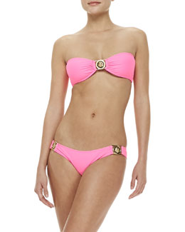 Beach Riot Jackpot Bandeau Swim Top & Bellagio Medallion Swim Bottom