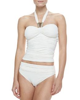Carmen Marc Valvo Malawi Kingdom Tankini Top & Malawi Kingdom Ruched Bottom