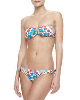 MARC by Marc Jacobs Maddy Floral-Print Bandeau Top & Maddy Tie-Side Swim Bottom