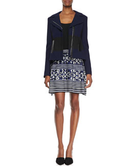 Nanette Lepore West Coat Two-Tone Jacquard Jacket & Ride The Wave Combo Dress