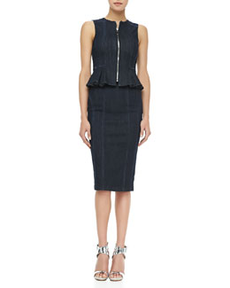 Nanette Lepore Too Hot Sleeveless Top & Pencil Strollin' Skirt, Navy