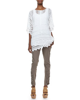 XCVI Morocco Crochet Easy Tunic, Long Slim-Fit Cotton Tank & Aksana Mixed Cargo Leggings, Women's