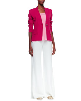 Misook Tyler One-Button Jacket, Amy U-Neck Tank & Fit-and-Knit Palazzo Pants, Women's