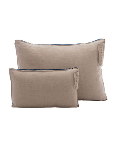 Linen Pillow with Satin Insert, Royal