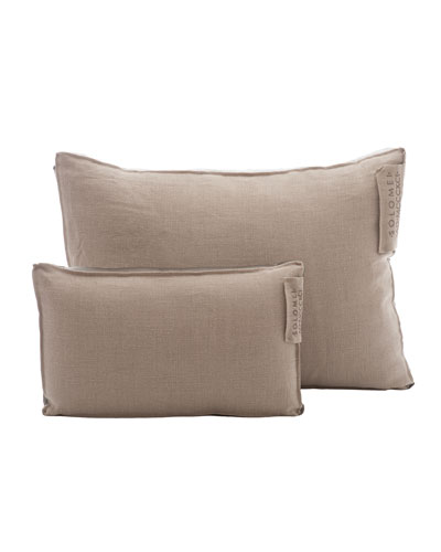 Linen Pillow with Satin Insert, Taupe