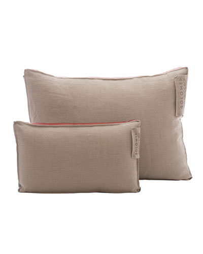 Linen Pillow with Satin Insert, Grapefruit