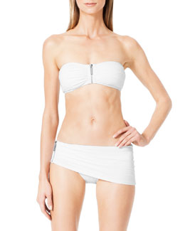 MICHAEL Michael Kors  Tunisia Front-Zip Bandeau Top & Skirted Bottom