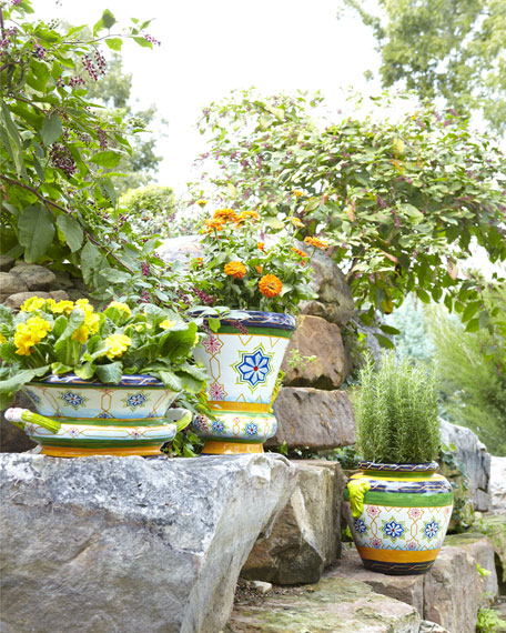 Moroccan Tile Jar Planter