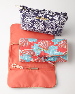 Lilly Pulitzer Makeup Bag & Jewelry Roll