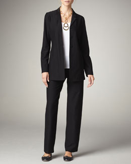 Eileen Fisher Washable-Crepe Jacket & Pants, Women's