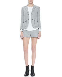 Rag & Bone Nancy Double-Button Blazer, Tatiana Pocket Shorts & Dakota Seam-Back Tee