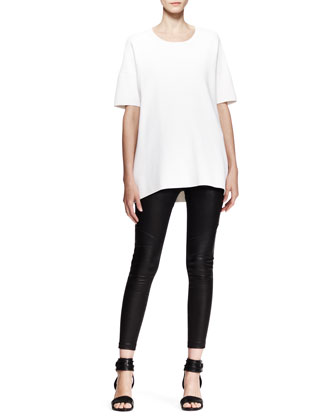 Clara Oversized Pockets Tee and Daria Cropped Combo Leggings