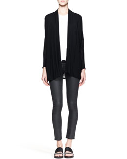 Helmut Lang Slack Draped Jersey Cardigan and Kinetic High-Low Tank