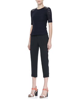Rag & Bone Basha Short-Sleeve Top and Cropped Cuffed Pants