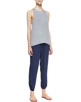 Soft Joie Phan Striped Loose Tank & Ellena Cropped-Ankle Pants