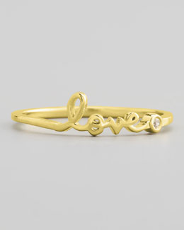 SHY by Sydney Evan Diamond Word Rings