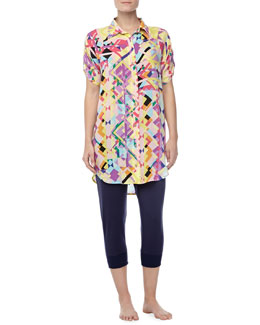 Josie Chic Jersey Sleepshirt & Cropped Pants