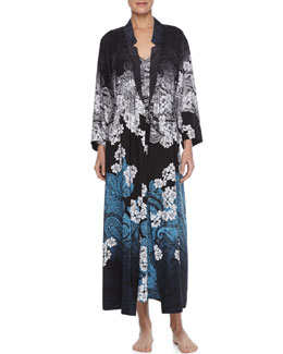 Oscar de la Renta Twilight Crepe De Chine Robe & Gown