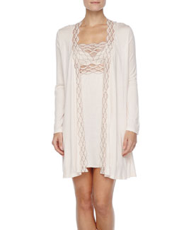 Eberjey Mabel Embroidered Robe & Chemise