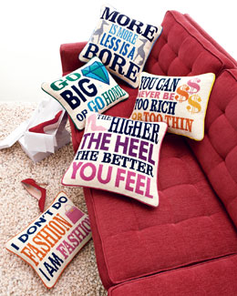 Jonathan Adler Needlepoint Pillows