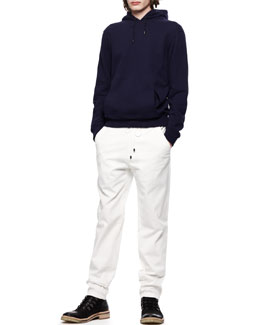 Maison Martin Margiela Hooded Knit Pullover and Drawstring Twill Trousers