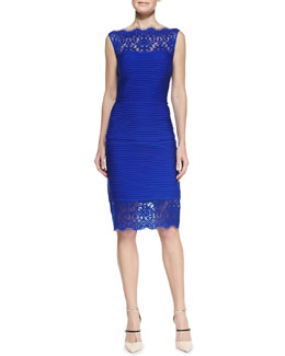 Tadashi Shoji Pintuck Sleeveless Lace Top & Lace-Hem Pencil Skirt