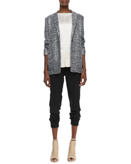 MARC by Marc Jacobs Shimmery Long Tweed Jacket, Julee Crepe Blouse & Frances Crepe Track Pants