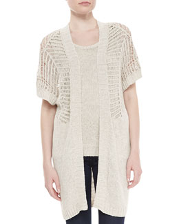Christopher Fischer Nicola Chevron Lace Kimono Cardigan & Nina Scoop-Neck Shell
