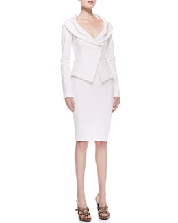 Donna Karan Off-the-Shoulder Jacket & Pull-On Pencil Skirt