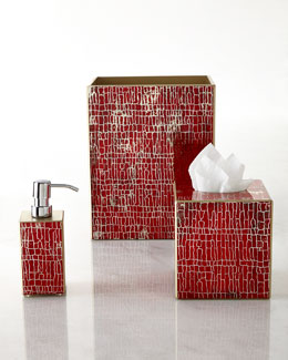 Waylande Gregory Crackle-Pattern Vanity Accessories