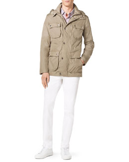 MICHAEL KORS  Multi-Pocket Hooded Jacket, Edmund Check Shirt & Stretch Calvary Jeans