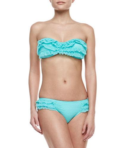 Juicy Couture Prima Donna Ruffled Bandeau Top & Swim Bottom