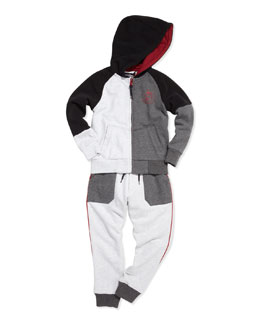 Little Marc Jacobs Colorblock Zip-Front Hoodie & Sweatpants, Sizes 6-10