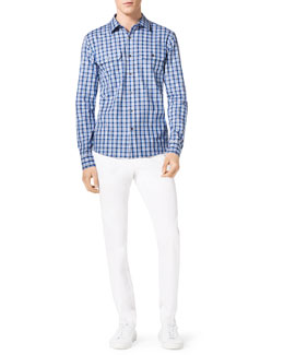 Michael Kors  Duncan Check Shirt & Stretch Calvary Jeans