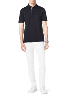 Michael Kors  Check-Trim Polo & Stretch Calvary Jeans