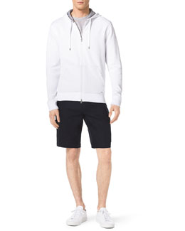 MICHAEL KORS  Front-Zip Hoodie, Heathered Slub Pocket Tee & Linen Cargo Shorts