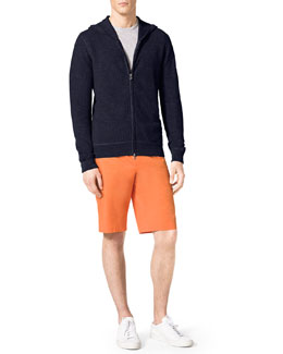Michael Kors  Thermal Zip Hoodie & Slim Twill Shorts