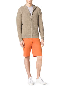 MICHAEL KORS  Thermal Zip Hoodie, Heathered Slub Pocket Tee & Slim Twill Shorts