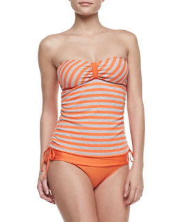 Splendid Miami Striped Bandini Top & Solid Banded Swim Bottom