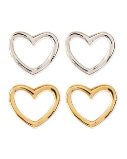 MARC by Marc Jacobs Love Heart Stud Earrings