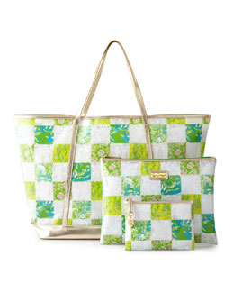 Lilly Pulitzer Coastal Tote & Fun-in-the-Sun Zip Duo